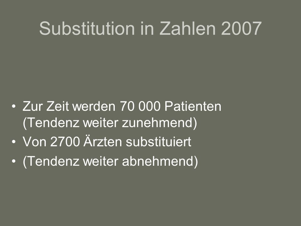 Substitution in Zahlen 2007
