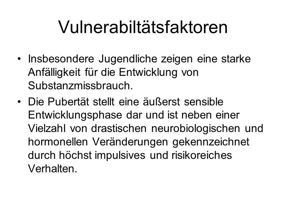 Vulnerabiltätsfaktoren