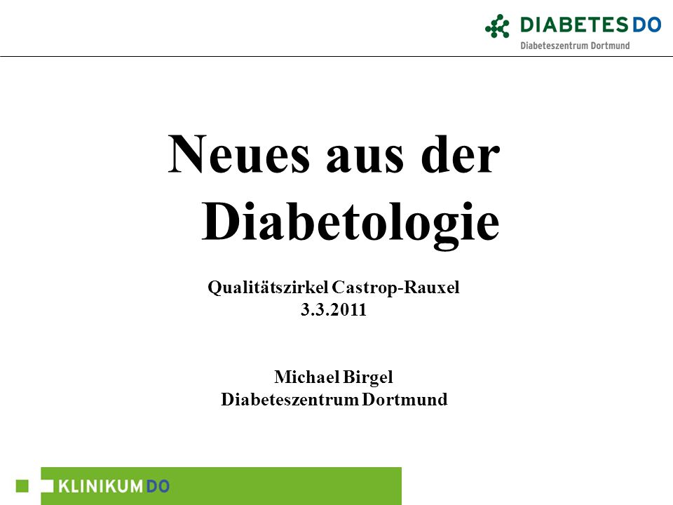 Neues aus der Diabetologie