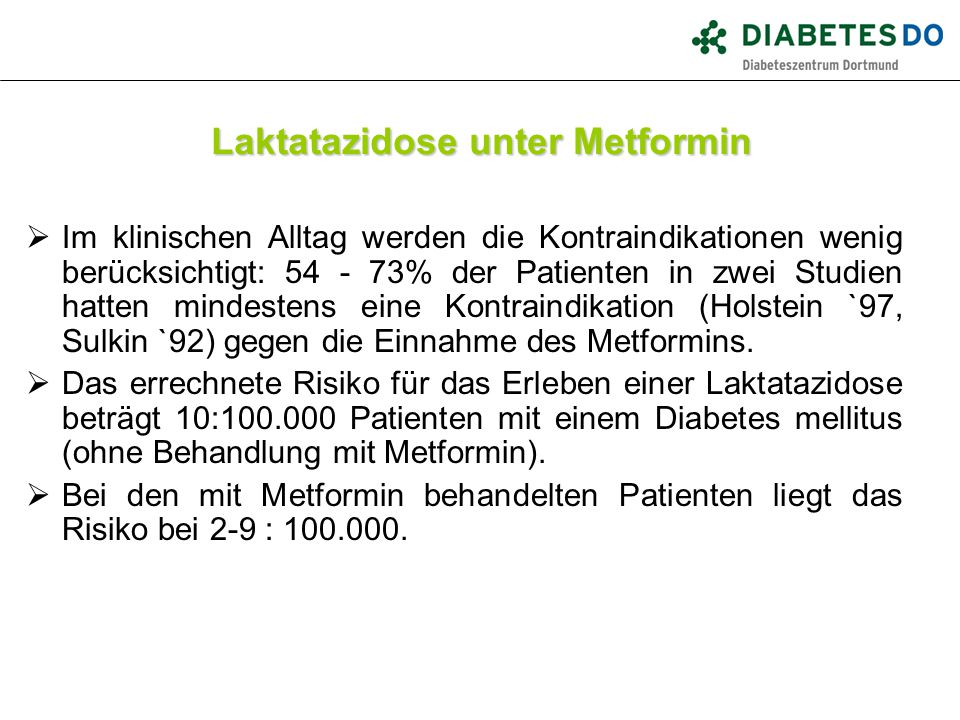 Laktatazidose unter Metformin