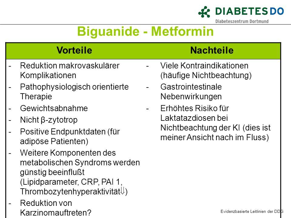 Biguanide - Metformin Vorteile Nachteile