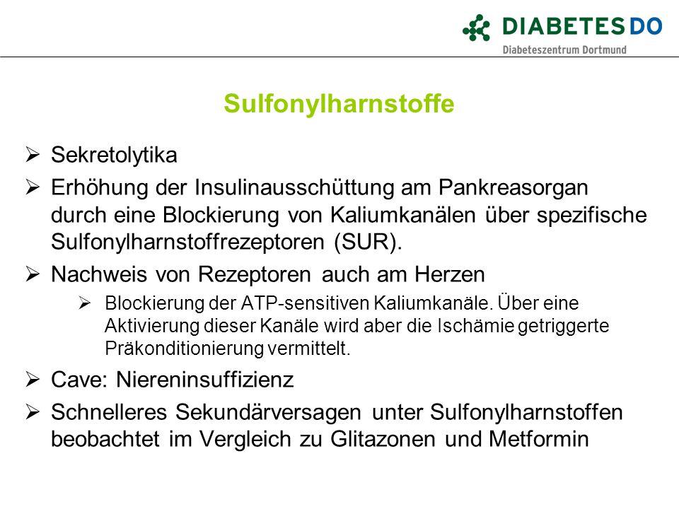 Sulfonylharnstoffe Sekretolytika