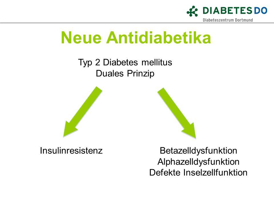 Neue Antidiabetika Typ 2 Diabetes mellitus Duales Prinzip