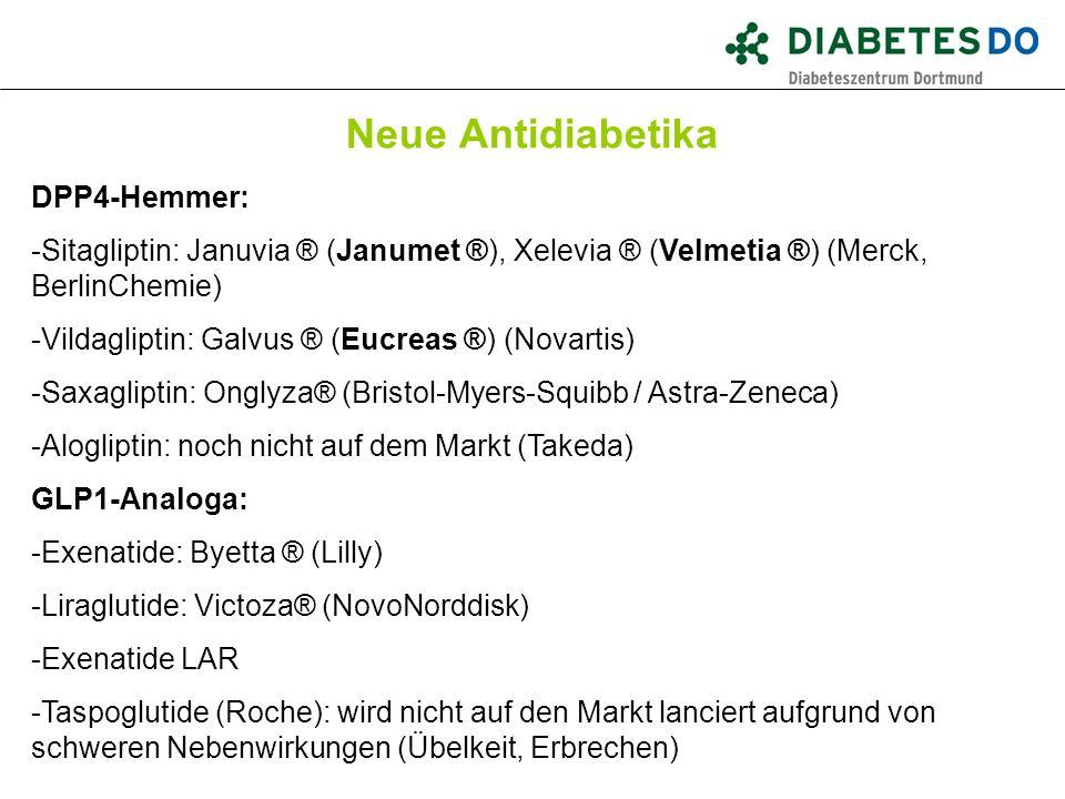 Was ist gesichert Neue Antidiabetika DPP4-Hemmer: