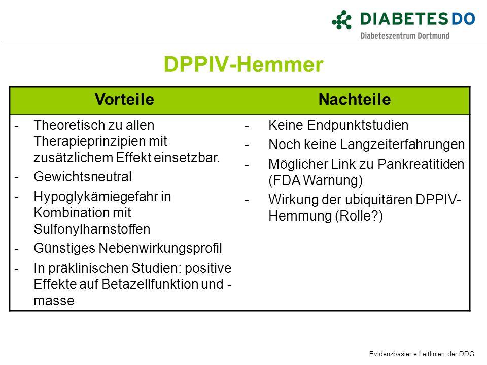 DPPIV-Hemmer Vorteile Nachteile