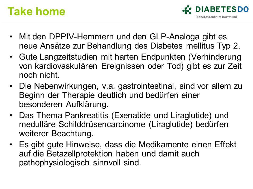 Take home Mit den DPPIV-Hemmern und den GLP-Analoga gibt es neue Ansätze zur Behandlung des Diabetes mellitus Typ 2.
