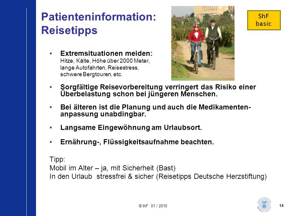 Patienteninformation: Reisetipps