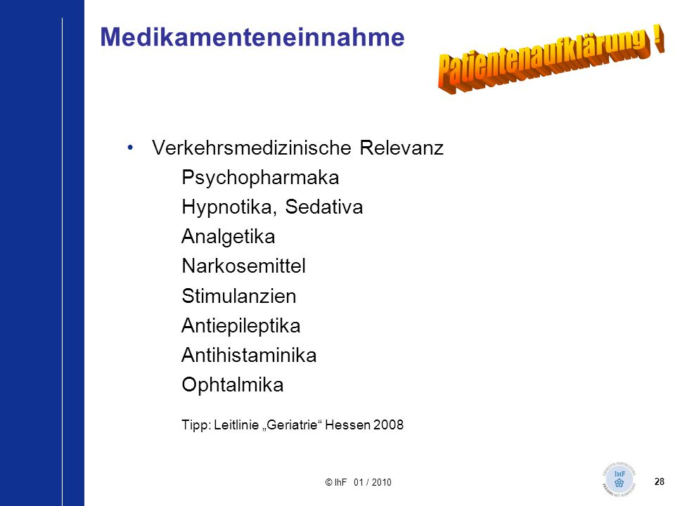 Medikamenteneinnahme
