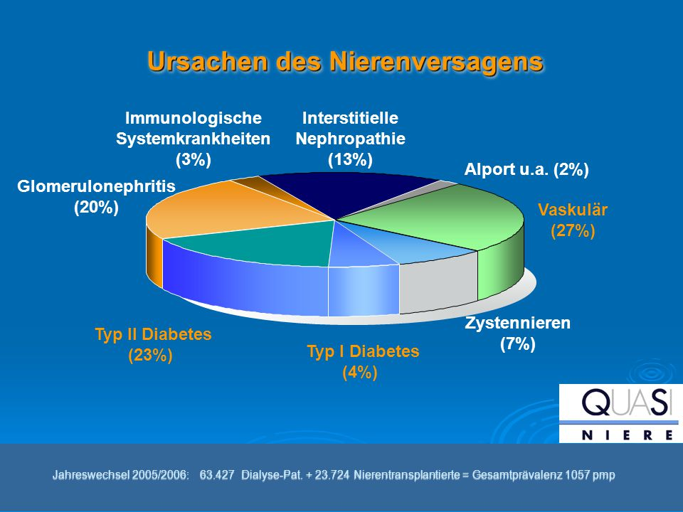 Ursachen des Nierenversagens