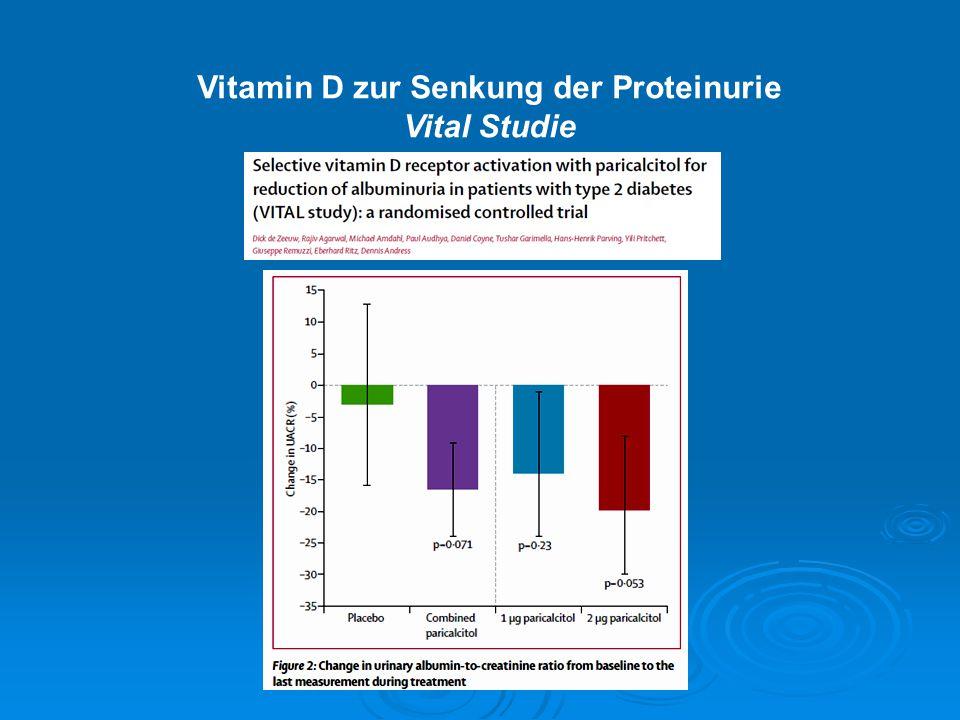 Vitamin D zur Senkung der Proteinurie