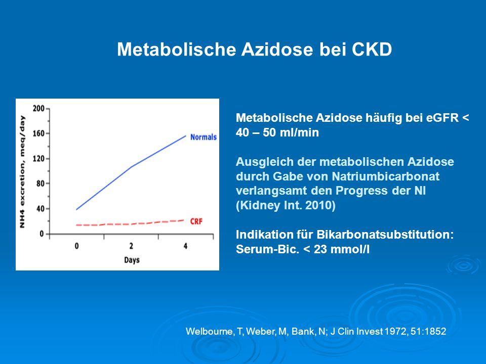Metabolische Azidose bei CKD
