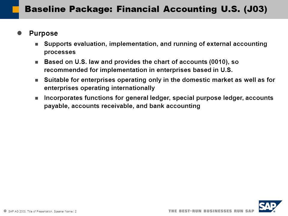 Baseline Package: Financial Accounting U.S. (J03)