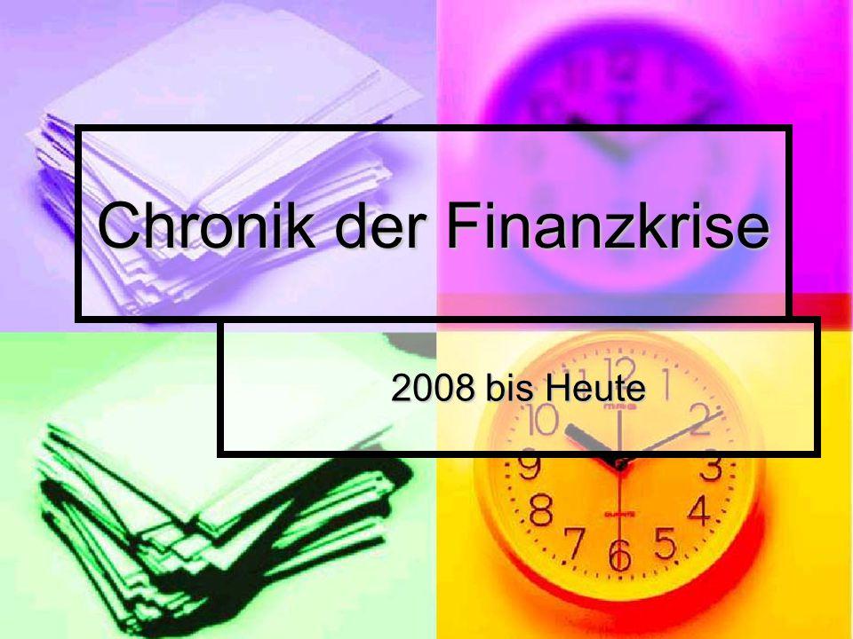 Chronik der Finanzkrise