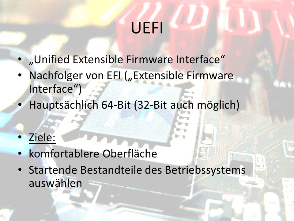 "UEFI ""Unified Extensible Firmware Interface"