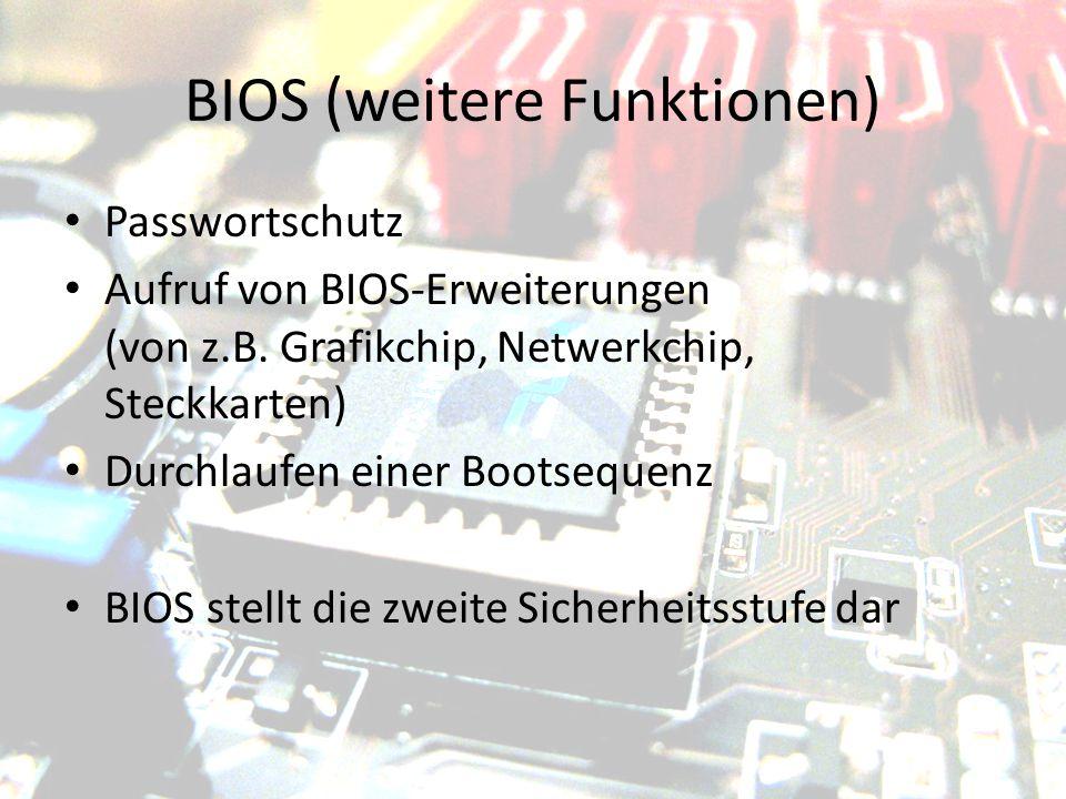 BIOS (weitere Funktionen)