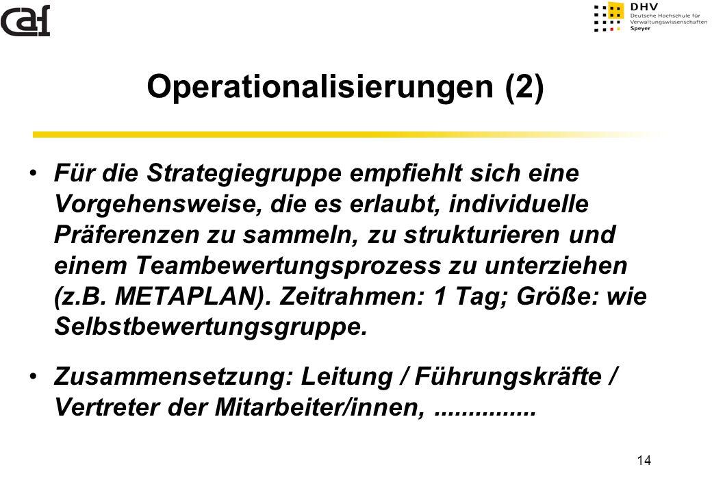 Operationalisierungen (2)