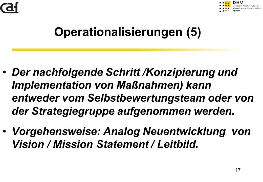 Operationalisierungen (5)