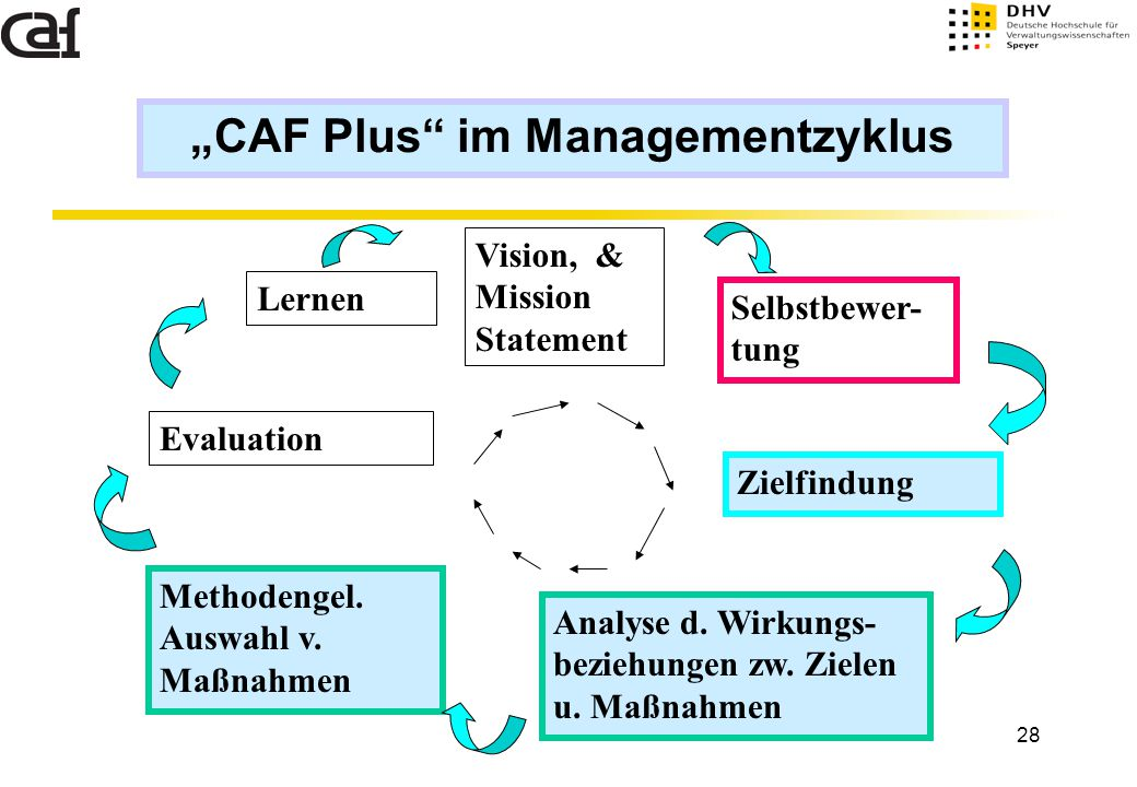 """CAF Plus im Managementzyklus"
