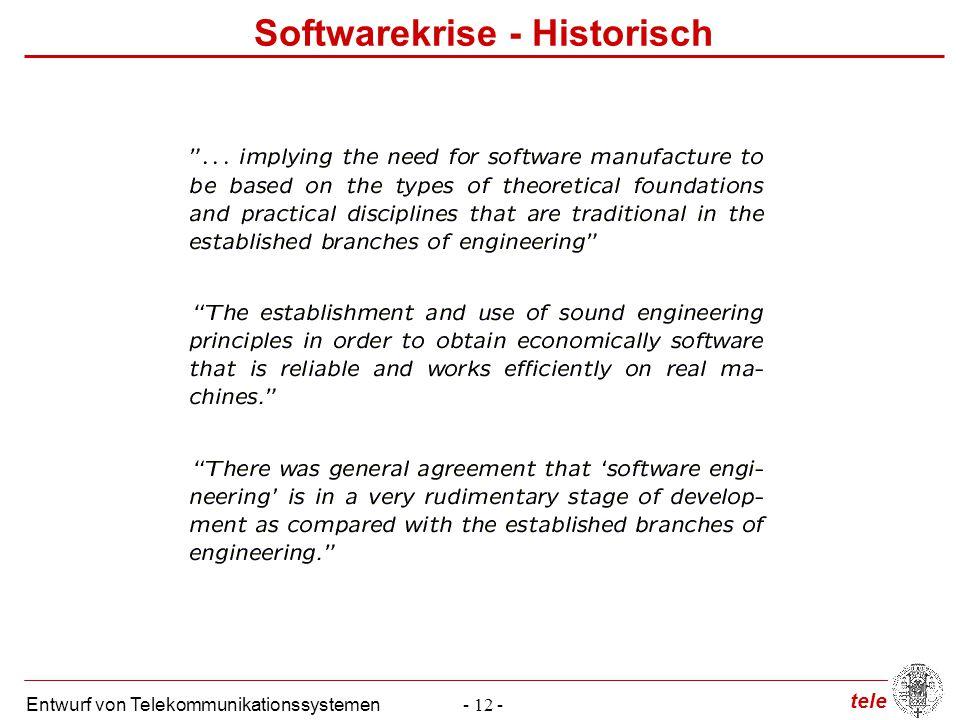 Softwarekrise - Historisch