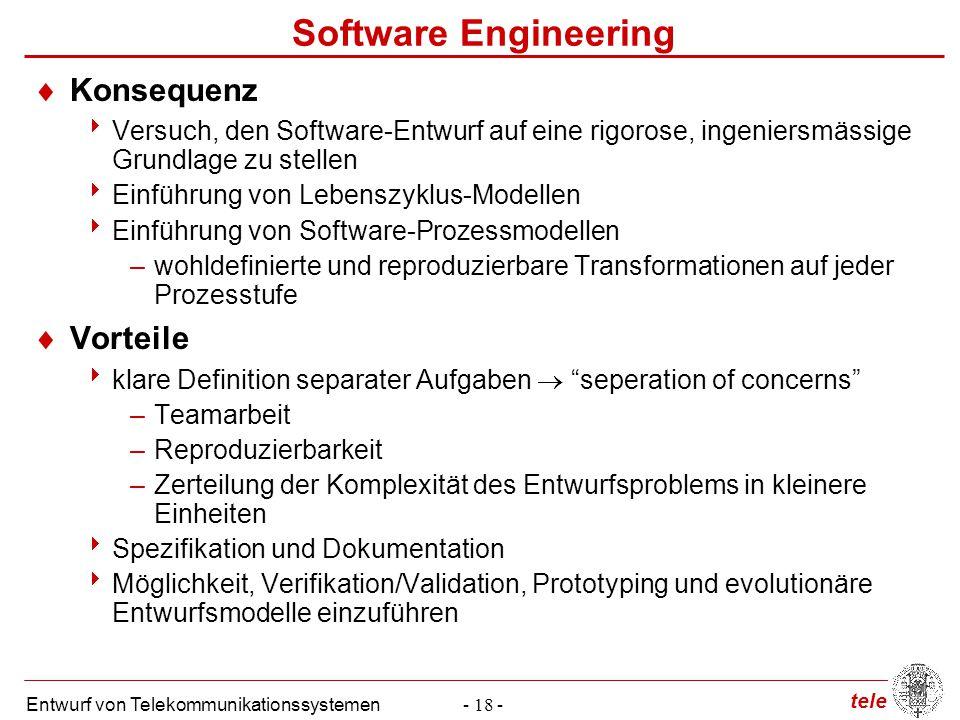 Software Engineering Konsequenz Vorteile