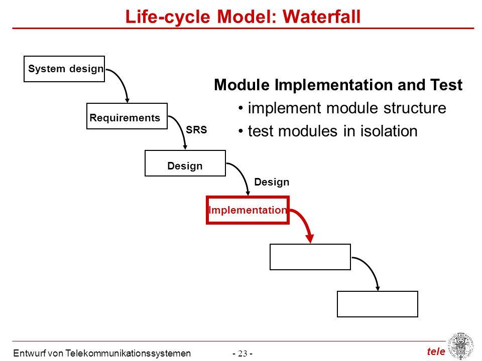 Life-cycle Model: Waterfall