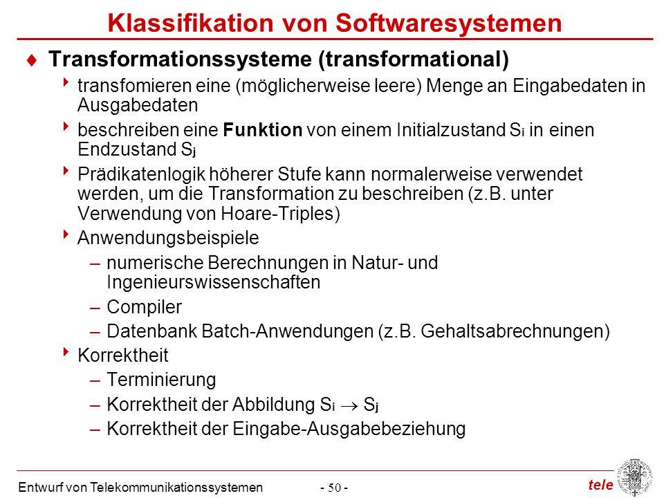 Klassifikation von Softwaresystemen