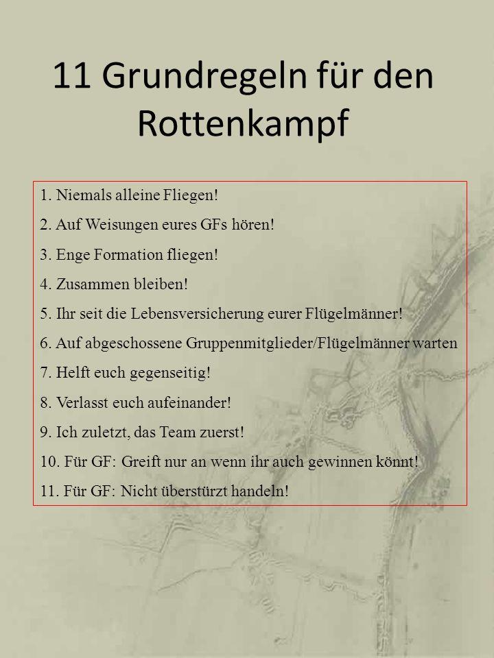 11 Grundregeln für den Rottenkampf