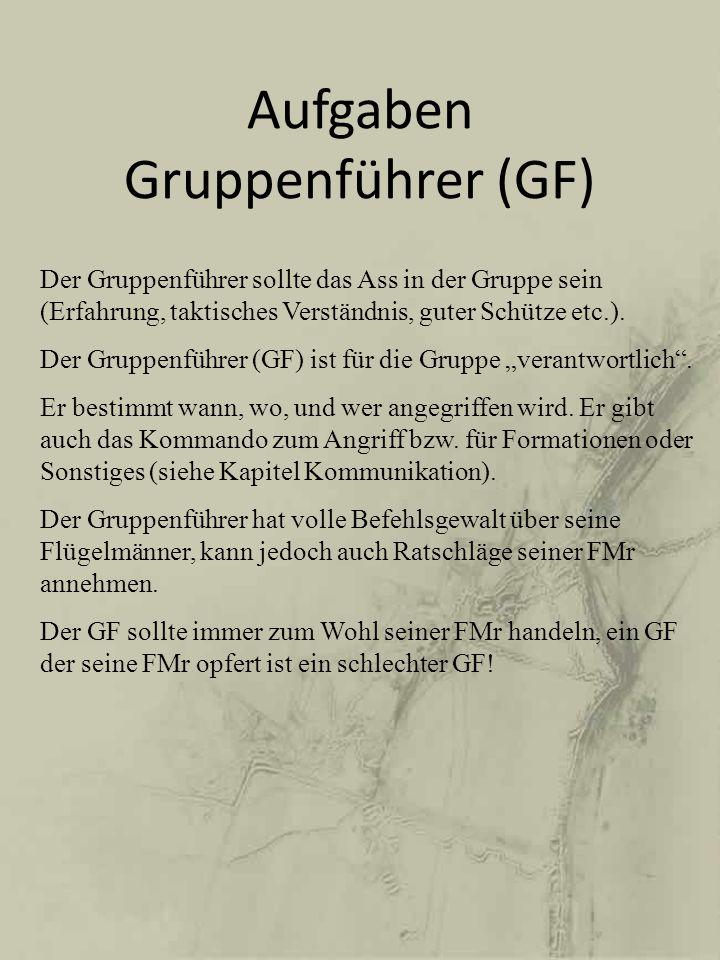 Aufgaben Gruppenführer (GF)