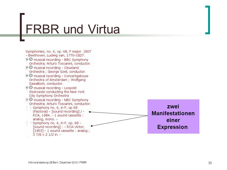 FRBR und Virtua zwei Manifestationen einer Expression