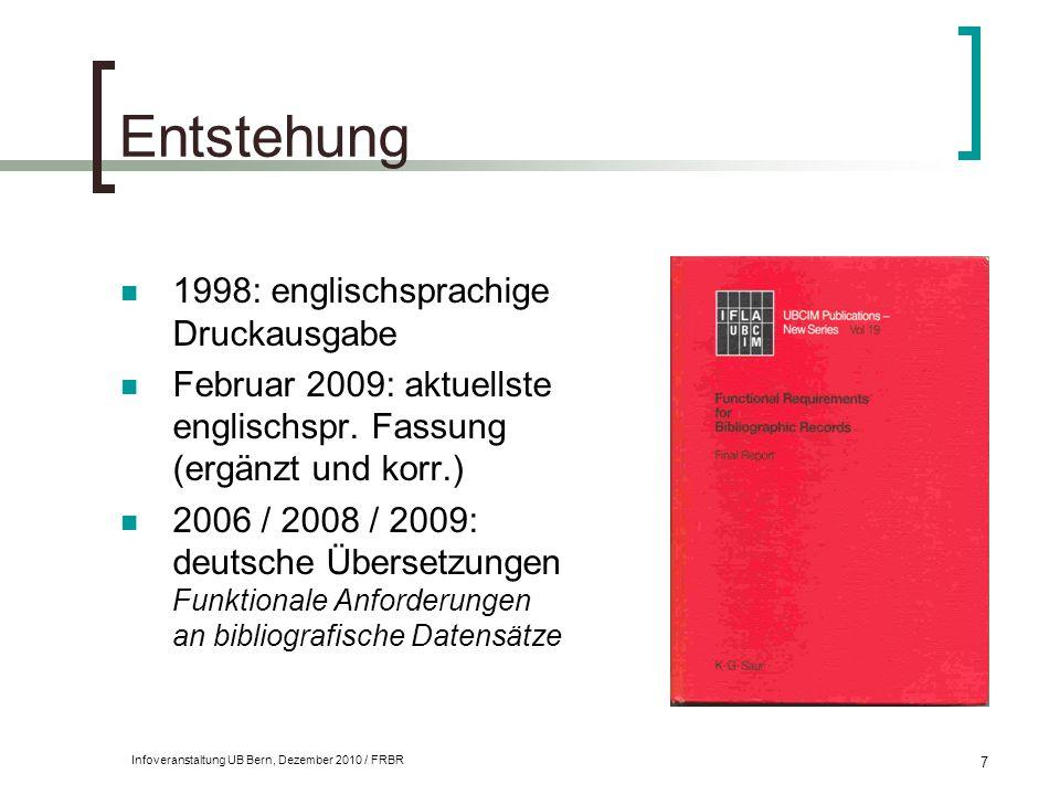Entstehung 1998: englischsprachige Druckausgabe