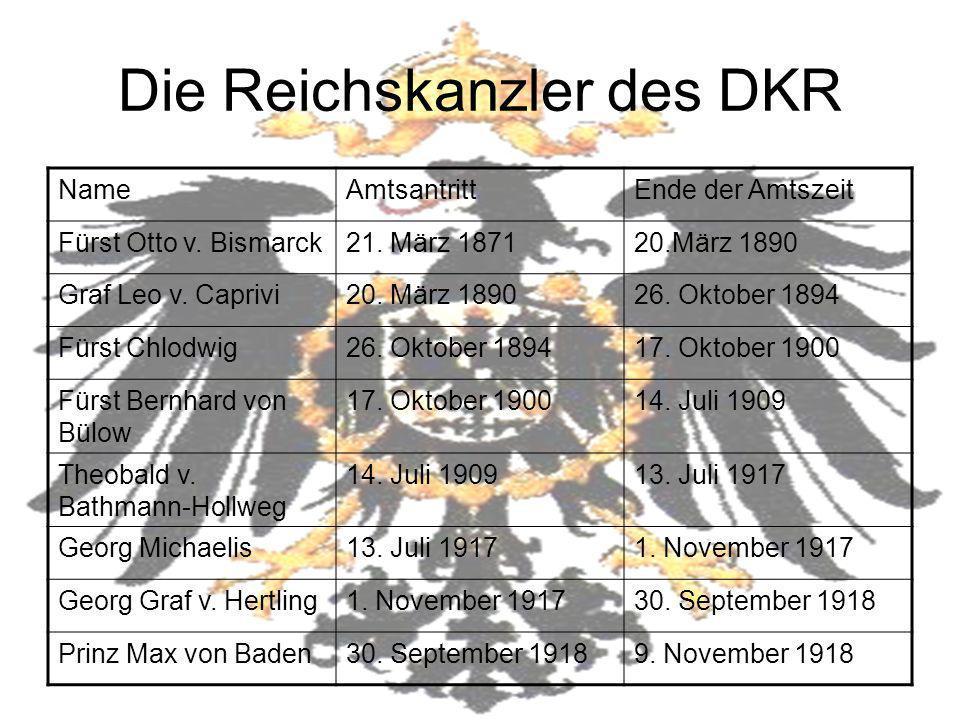 Die Reichskanzler des DKR