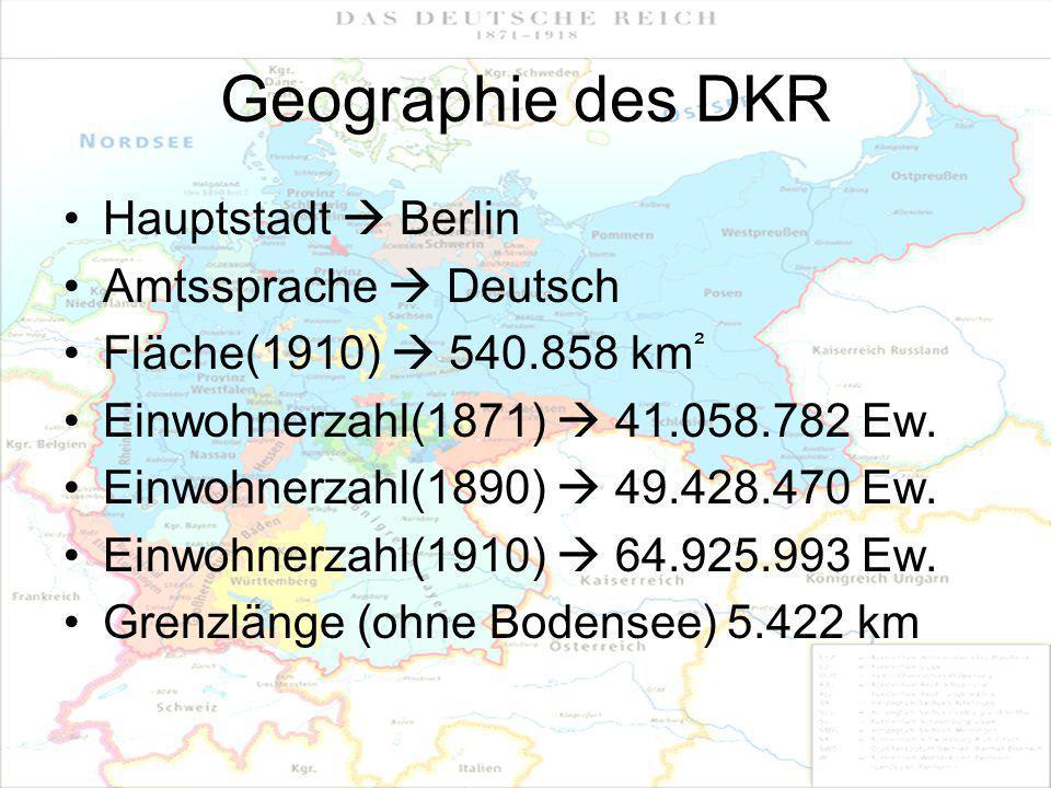 Geographie des DKR Hauptstadt  Berlin Amtssprache  Deutsch