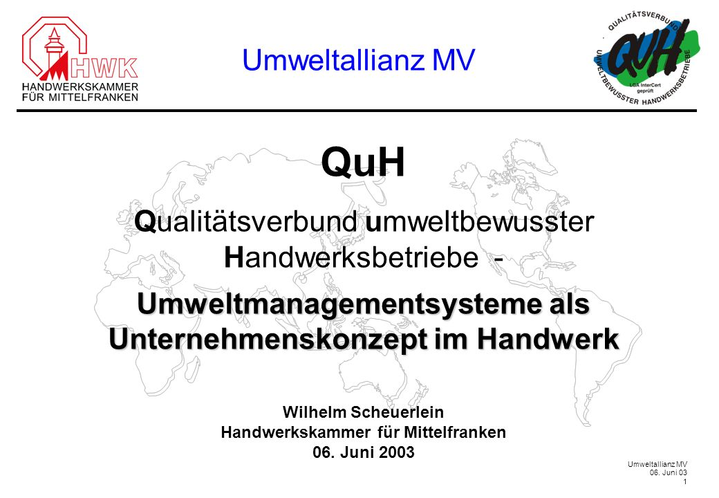 QuH Umweltallianz MV Qualitätsverbund umweltbewusster
