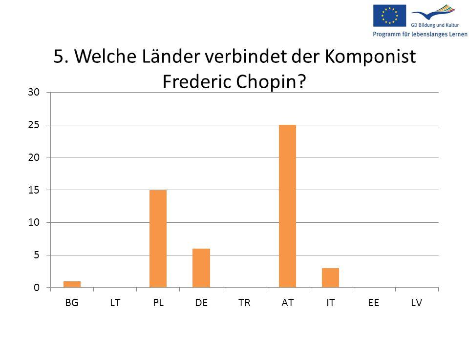 5. Welche Länder verbindet der Komponist Frederic Chopin