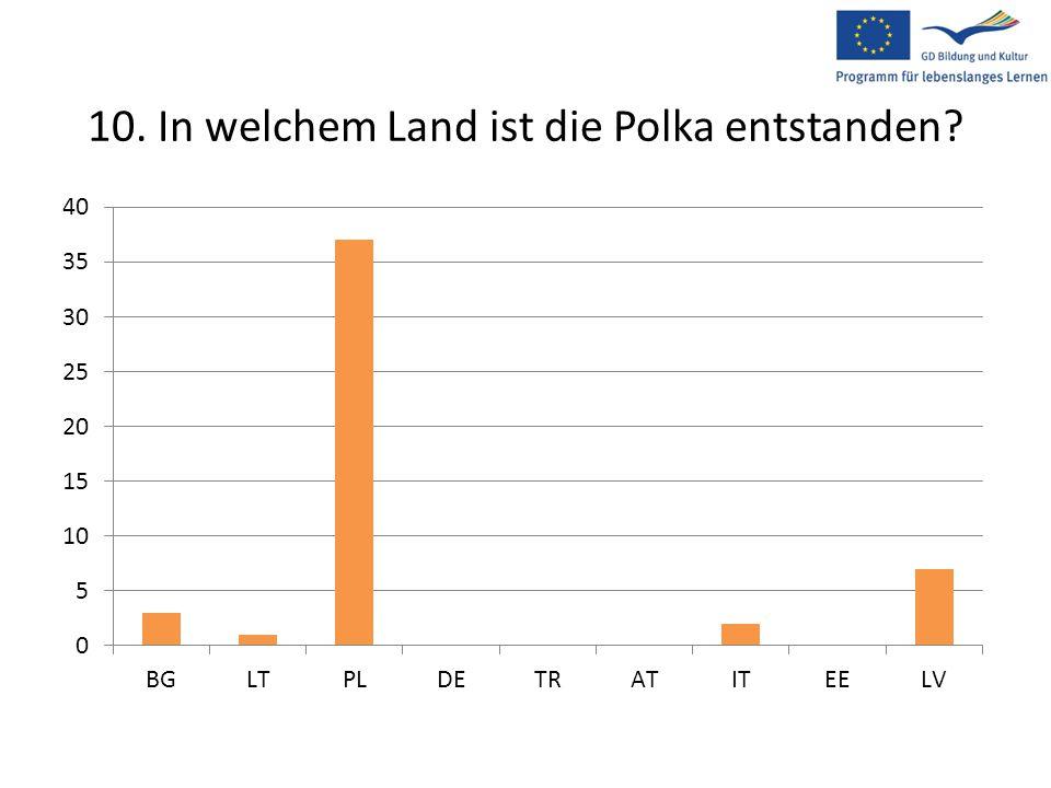 10. In welchem Land ist die Polka entstanden