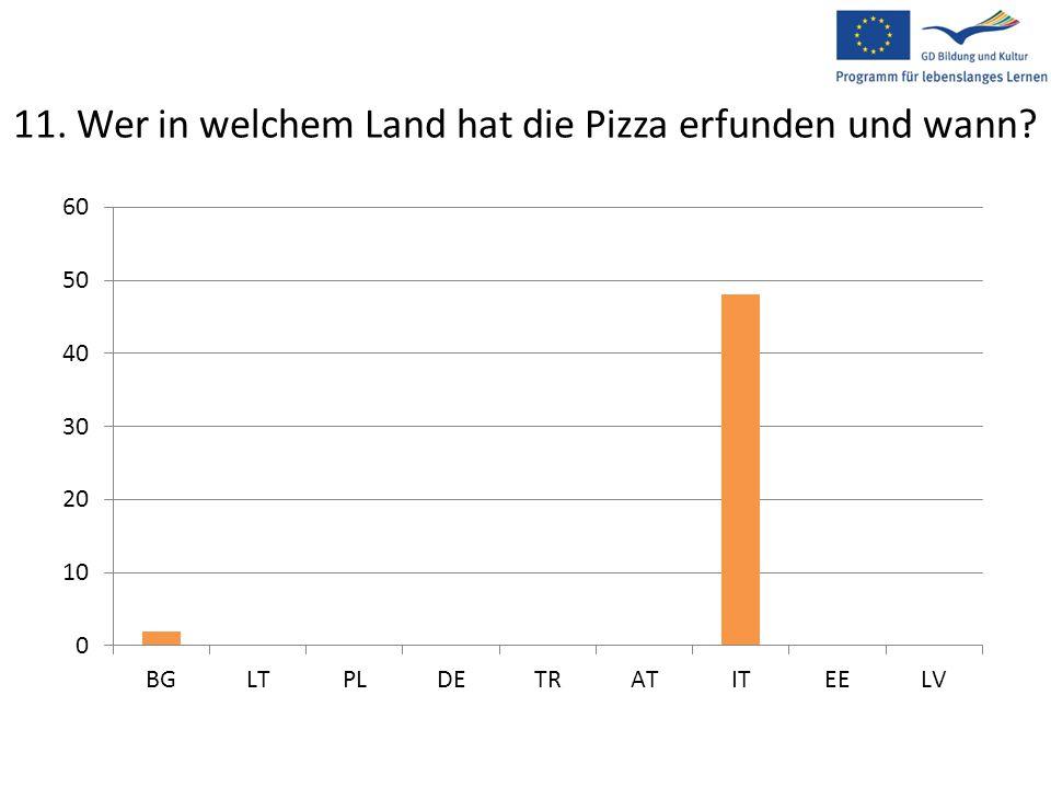 11. Wer in welchem Land hat die Pizza erfunden und wann