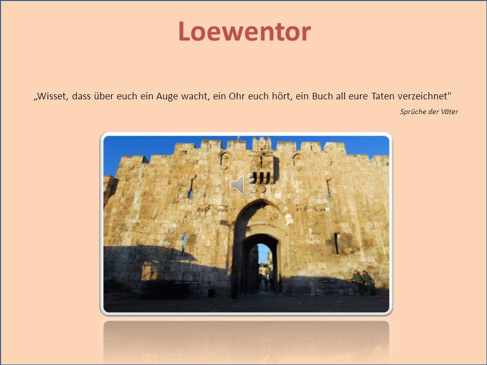 """Loewentor """"Wisset, dass über euch ein Auge wacht, ein Ohr euch hört, ein Buch all eure Taten verzeichnet"""