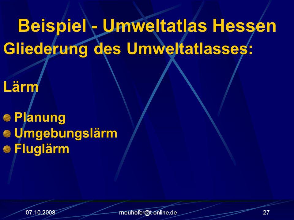 Beispiel - Umweltatlas Hessen