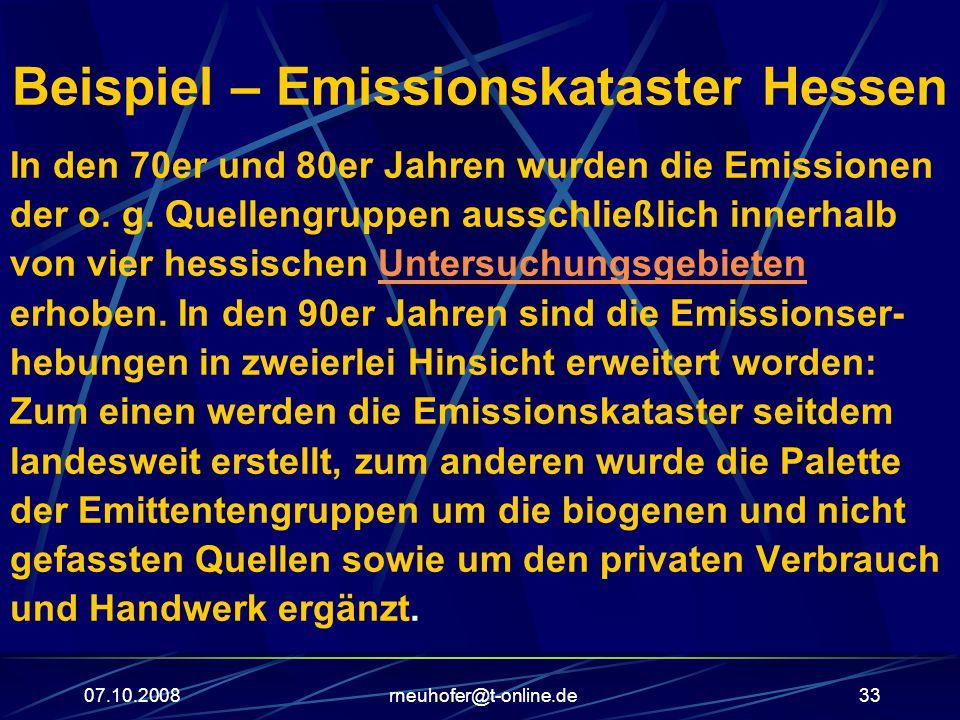 Beispiel – Emissionskataster Hessen