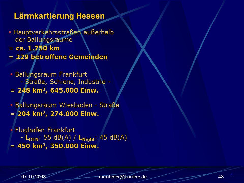 Lärmkartierung Hessen