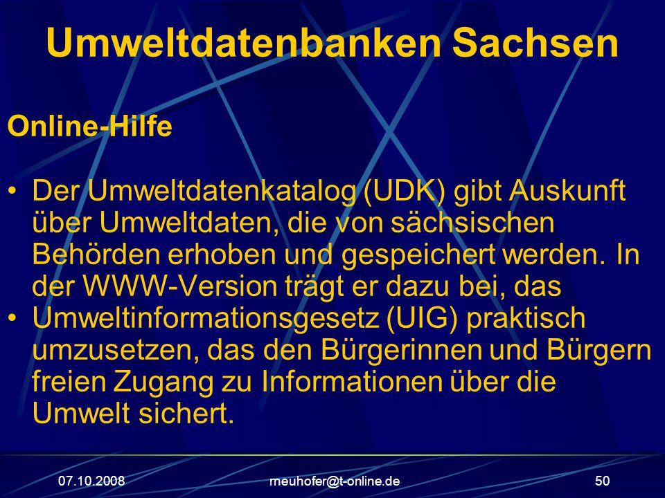 Umweltdatenbanken Sachsen