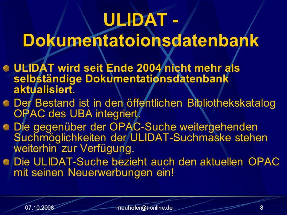 ULIDAT - Dokumentatoionsdatenbank