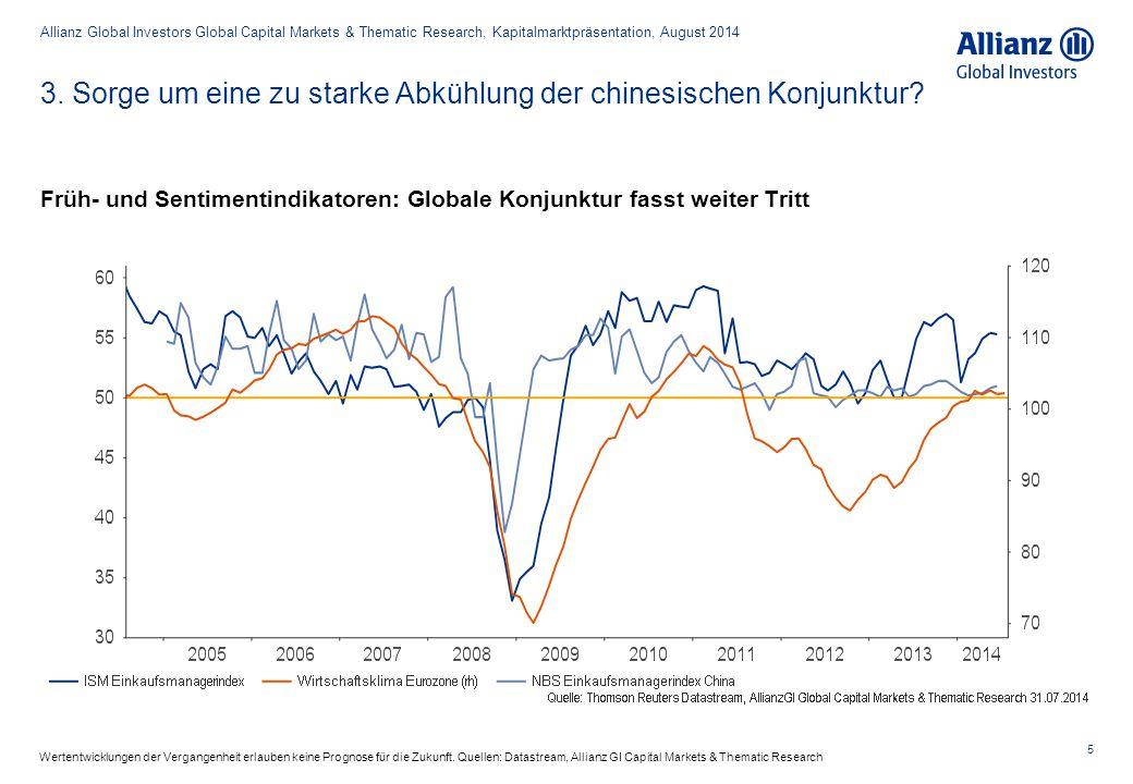 3. Sorge um eine zu starke Abkühlung der chinesischen Konjunktur