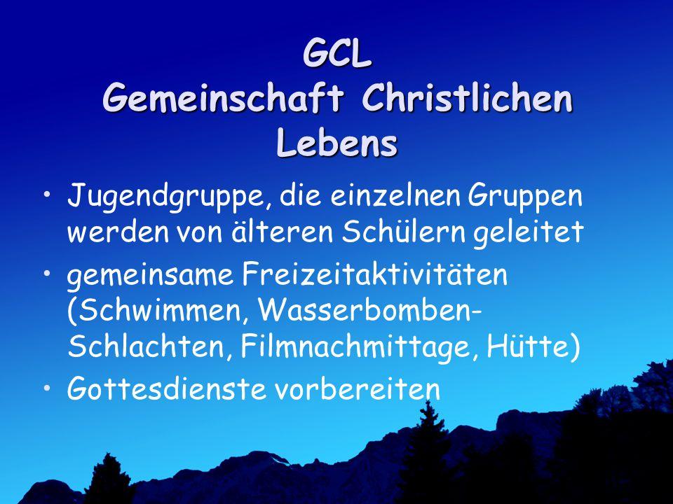 GCL Gemeinschaft Christlichen Lebens