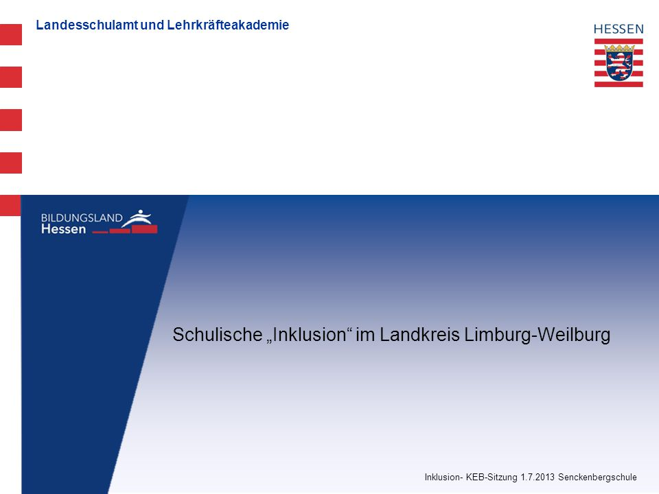"""Schulische """"Inklusion im Landkreis Limburg-Weilburg"""