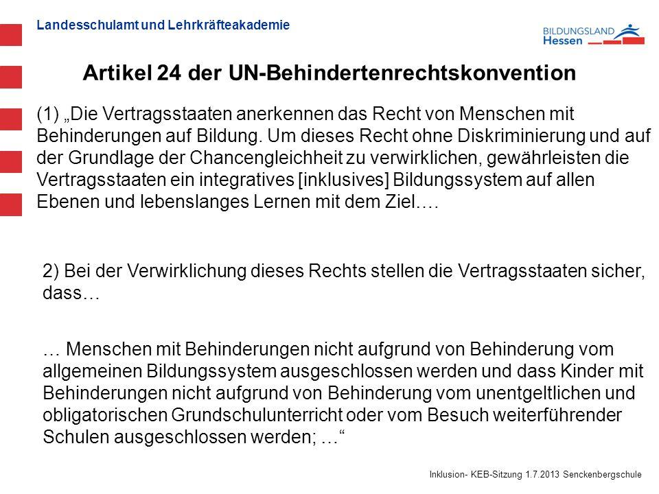 Artikel 24 der UN-Behindertenrechtskonvention