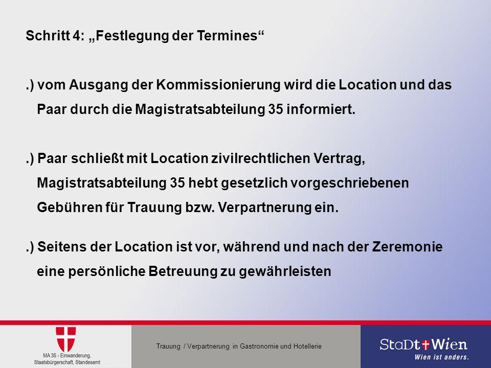 """Schritt 4: """"Festlegung der Termines"""