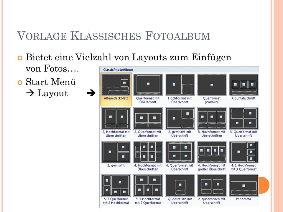 Vorlage Klassisches Fotoalbum