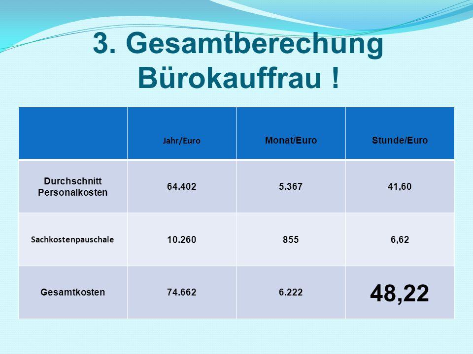3. Gesamtberechung Bürokauffrau !