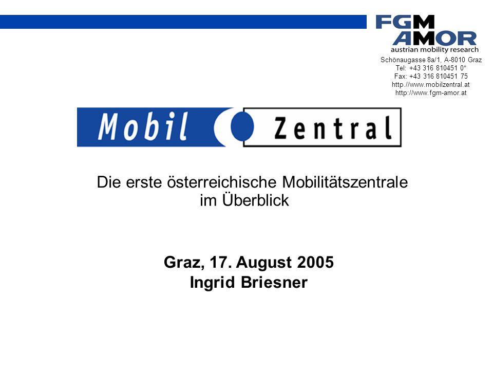 Die erste österreichische Mobilitätszentrale im Überblick